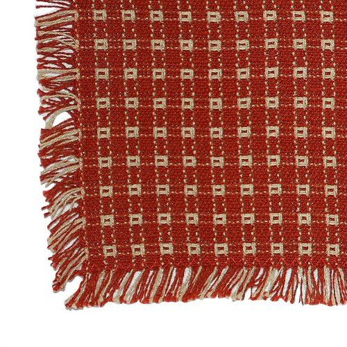 70 X 120 Rectangle Homespun Tablecloth Hand Loomed Cotton Laurel Mercantile  Holder Humor