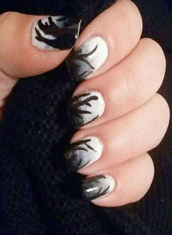 15 Latest Black And White Nail Design 2019 Nail Art Pinterest