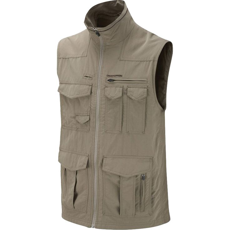 Ditch the excess baggage and keep essential equipment close to your chest with our lightweight multi-pocket performance gilet. Featuring NosiLife permanent insect repellent technology and an amazing baker's dozen of pockets, this practical, go-anywhere gilet is primed and ready for action. National Geographic NosiLife Sherman Vest (Men's) #Craghoppers at RockCreek.com
