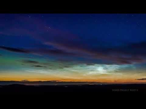 Noctilucent Clouds and Aurora Over Scotland  Video Credit: Maciej Winiarczyk; Music: Jolanta Galka-Kurkowska Explanation: Why would the sky still glow after sunset? Besides stars and the band of our Milky Way galaxy, the sky might glow because it contains either noctilucent clouds or aurora.