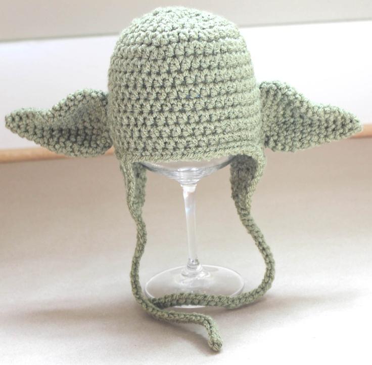 Free Crochet Pattern For Baby Yoda Hat : FREE - Crochet Pattern for Yoda Hat Sew many ideas ...