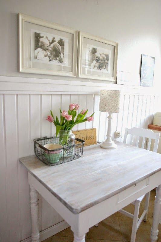 My little white Home: Biała boazeria w kuchni