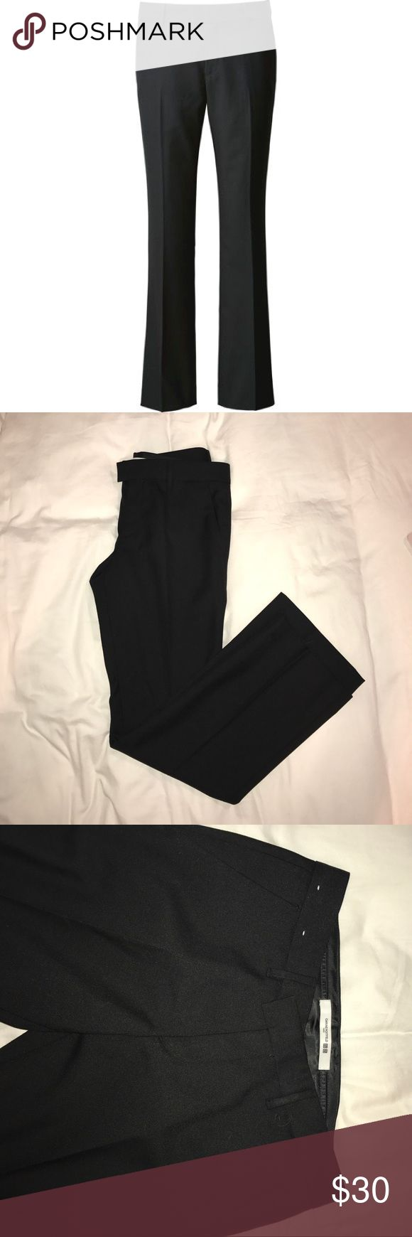 Uniqlo x Caribe Roitfeld Trousers Office appropriate trousers 55% wool in black. From the most recent Uniqlo x Carine Roitfeld collaboration. Worn once. Runs a bit small! Uniqlo Pants Trousers