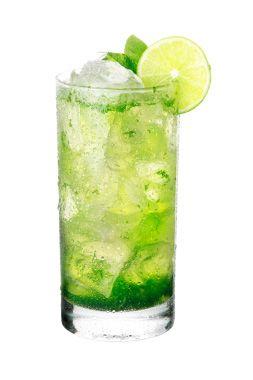 Mojito-Minze | 100 ml Prosecco oder Sekt 75 ml Mineralwasser mit Kohlensäure 2 cl Holunderblütensirup 3-4 Blätter frische Hugo-Minze