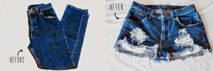 DIY // how to make perfect distressed high-waisted shorts