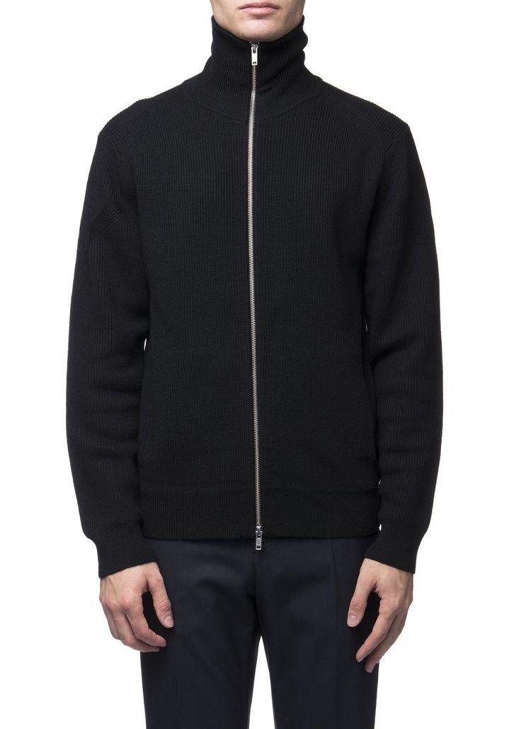 Theory - Menswear - FW16 // Black zip cardigan in merino wool