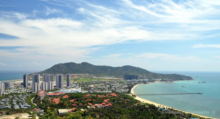 China Hainan island, city of Sanya, aerial view on man-made island in the form by Aleksander Karpenko on 500px