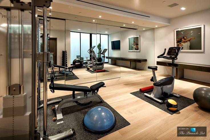 Home Gym Design: Sunset Strip Luxury Residence