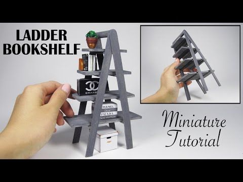 Hey there! Today I'm showing you how to make this super easy and modern miniature ladder bookshelf with just some popsicle sticks. I hope you like it! ☺ - - ...