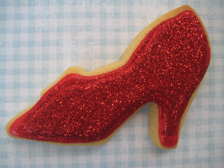 Bubble and Sweet: Ruby Slipper Cookies - Sophie's Wizard of Oz Birthday Party