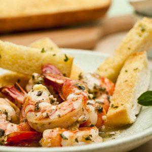 Shrimp Scampi with Garlic Bread