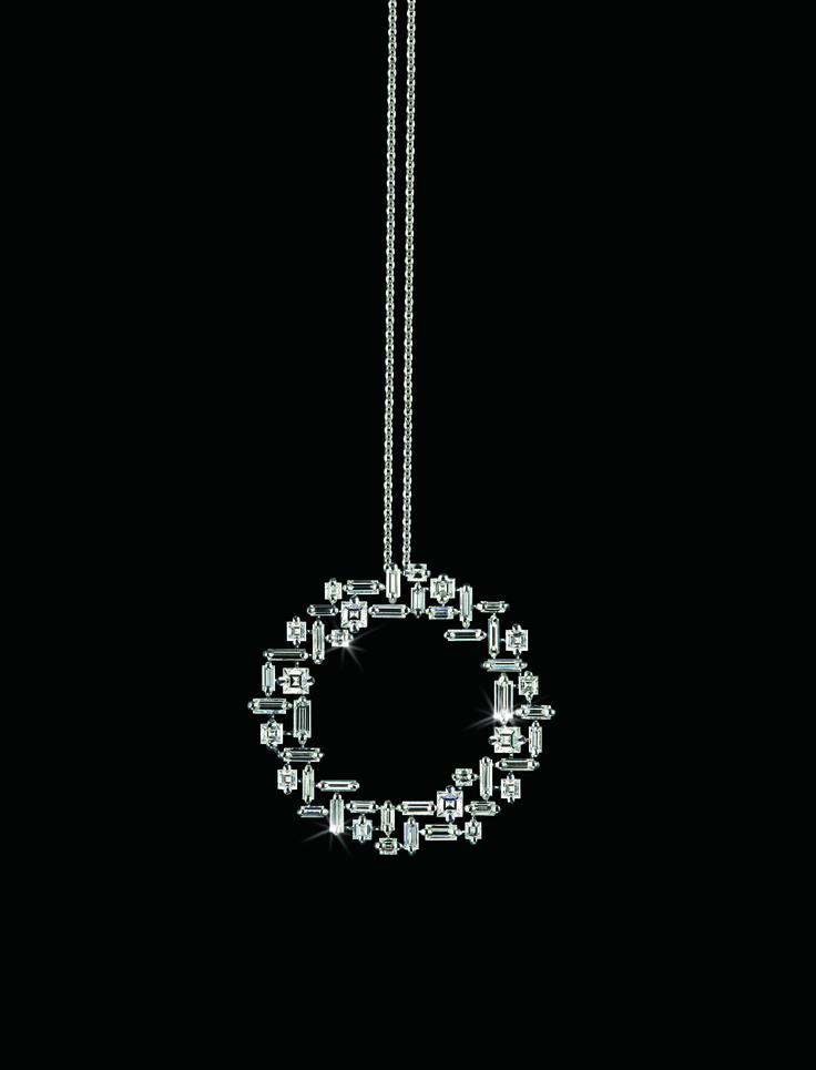 So pretty!! Canturi Cubism circular diamond pendant by Stefano Canturi