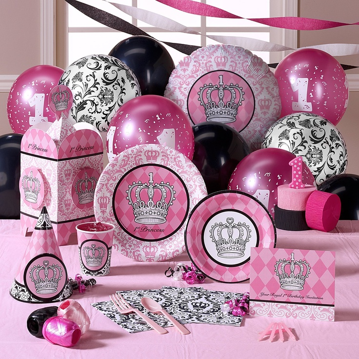 party supplies princess party decorations 1st birthday party supplies ...
