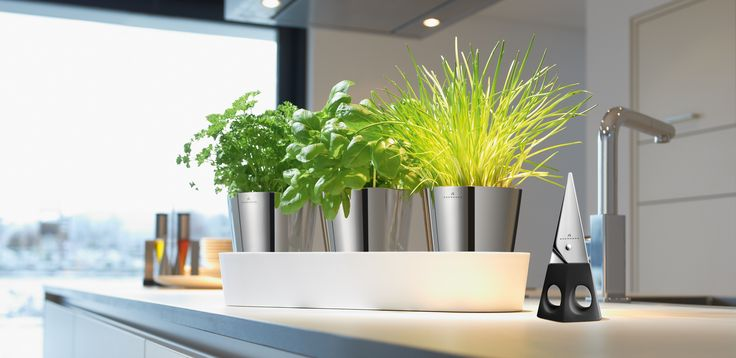 Zestaw 3 nowoczesnych i eleganckich doniczek na zioła Herbs niemieckiej marki Auerhahn. Produkt został wykonany z najwyższej jakości stali nierdzewnej, tworzywa sztucznego i włókna szklanego. Donica pełni nie tylko funkcję praktyczną ale też dekoracyjną.