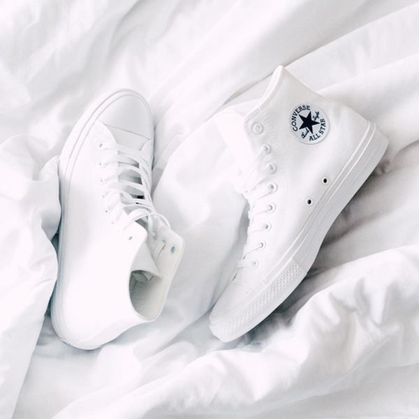 »Converse Chuck Taylor II white« #shoes #white #converse