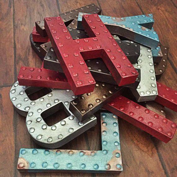 Fausse lettre métal 8 en métal finition par EllaMurphyDesigns