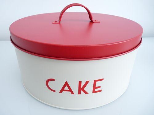 Retro Style Cake Tin - Red