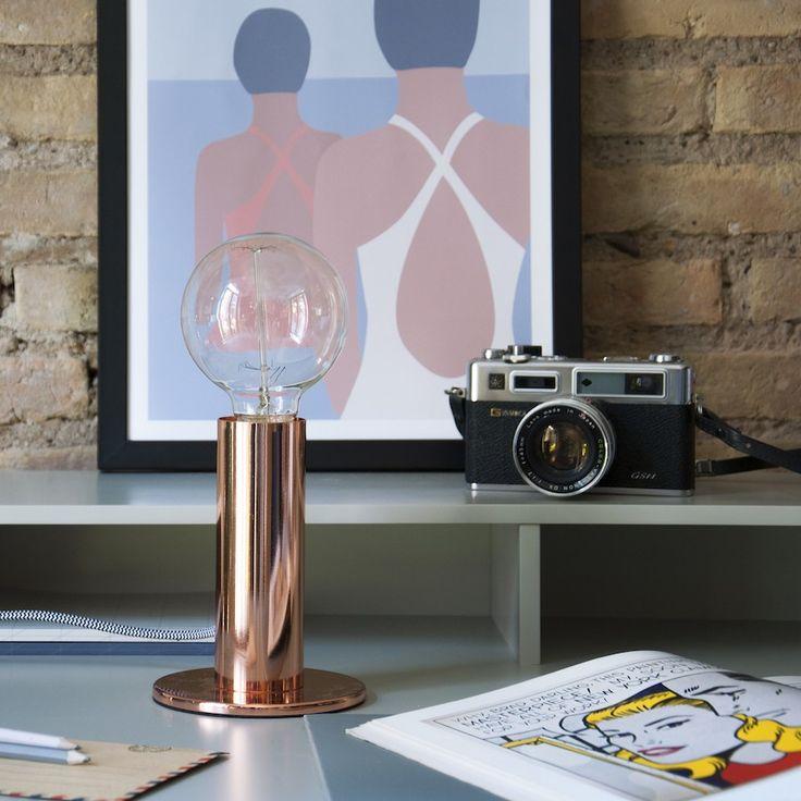Ivar lámpara de mesa cobre