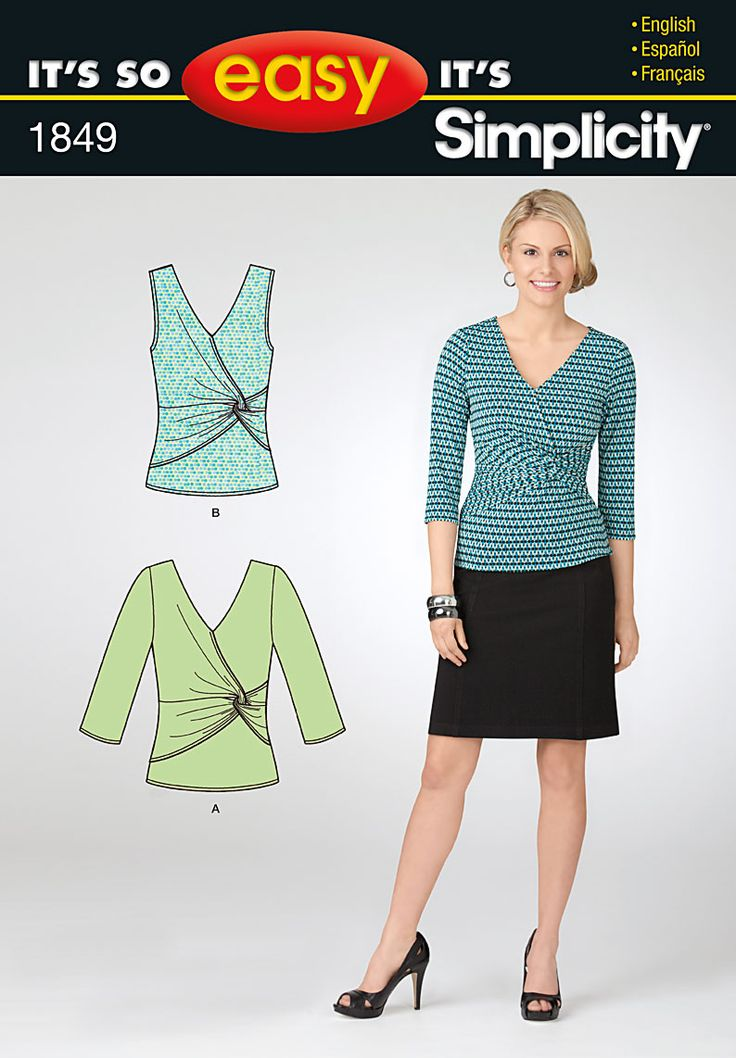 love this wrap top, and the look