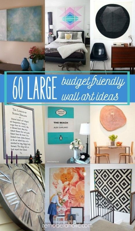 Decorate that large empty wall space with some of these DIY large wall decor ideas, including 22 ways to decorate with inexpensive engineer prints.
