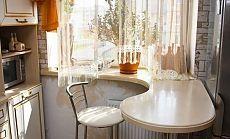 Идея для маленькой кухни - кухонный стол вместо подоконника. Дом рукоделия. Handmade, дизайн и декор