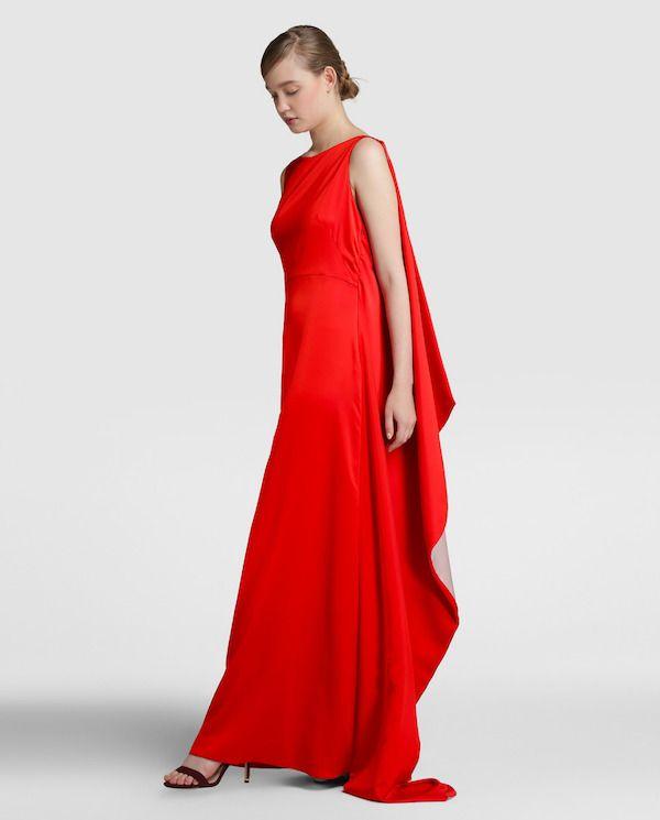 d31f79507 Vestido de fiesta de El Corte Inglés 2018 Largo rojo