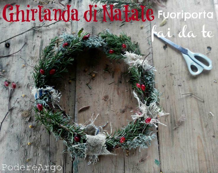 #DIY #Christmas wreath with herbs #Natale #Ghirlanda #faidate #erbearomatiche