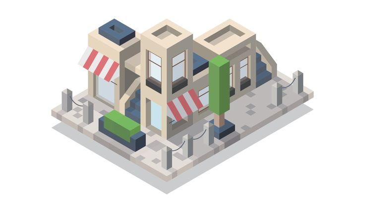 Isometric Street #1 Illustration - Adobe Illustrator [Speedart]