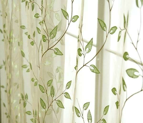 For Living Room Modern Green Patterned Curtains Sage Green