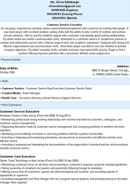 12 best Resume Examples 2013 images on Pinterest Resume examples - answering service operator sample resume