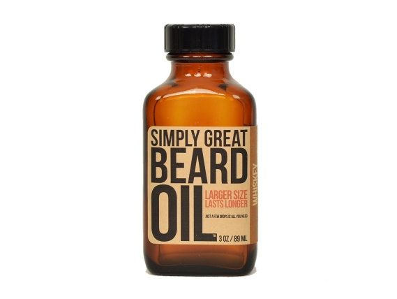 An amazing, natural alternative to cologne: whiskey-scented beard oil.