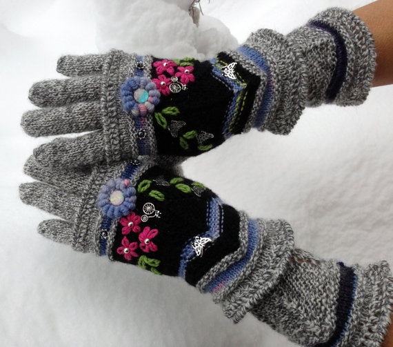 Fair Isle gloves and mittens Four Seasons by Dom Klary by domklary, $45.00