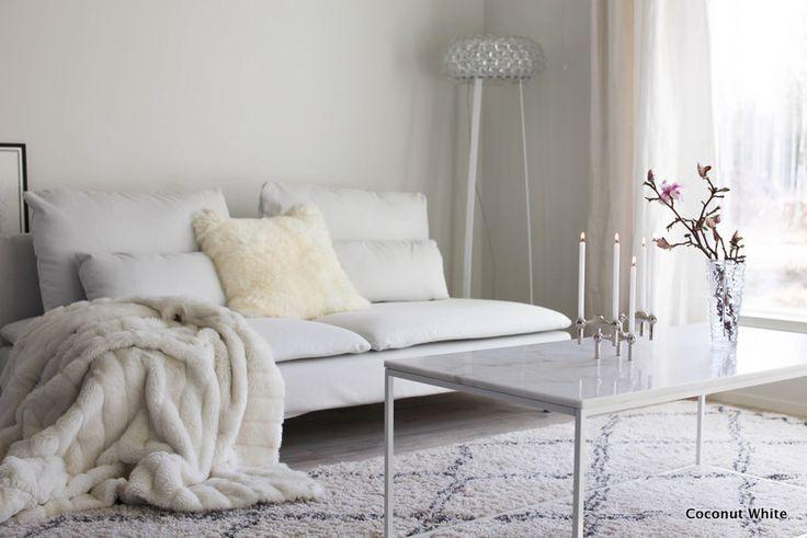 Moderni uutuus kotonamme - Stoffin upeat kynttilänjalat   Coconut White