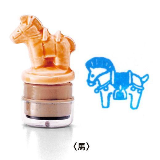 stamp ( 埴輪 japanese aicient terra-cotta figurine - horse)
