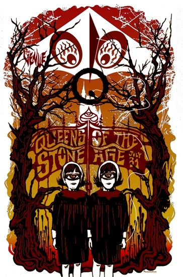 Creepy Queens of the Stone Age poster.