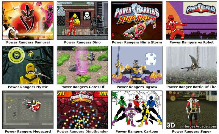 Play Power Rangers Games online at HeroesArcade.com