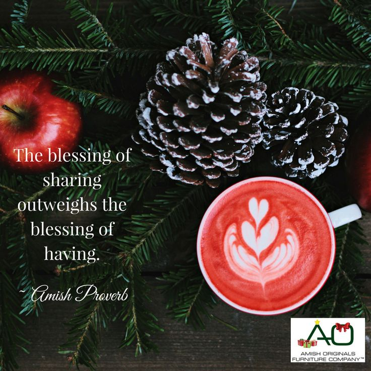 """""""The blessing of sharing outweighs the blessing of having."""" ~Amish Proverb  #livesimple #holiday #christmas #love #peace #generosity"""