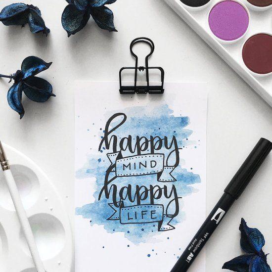 Free print: Happy Mind Happy Life | Craft Gawker | Bloglovin'