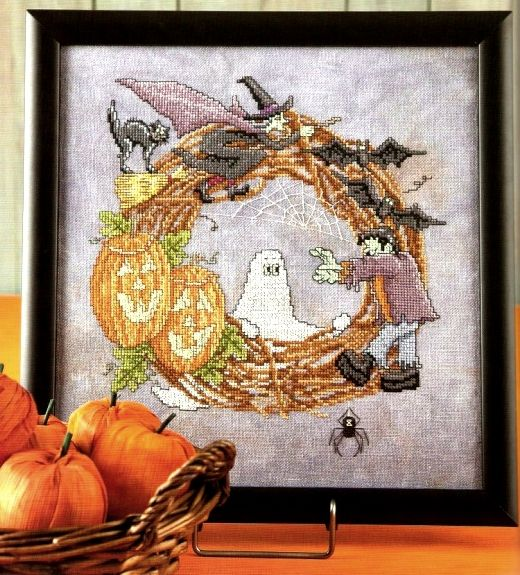 Ricami, lavori e schemi a puntocroce gratuiti: Schema punto croce per Halloween