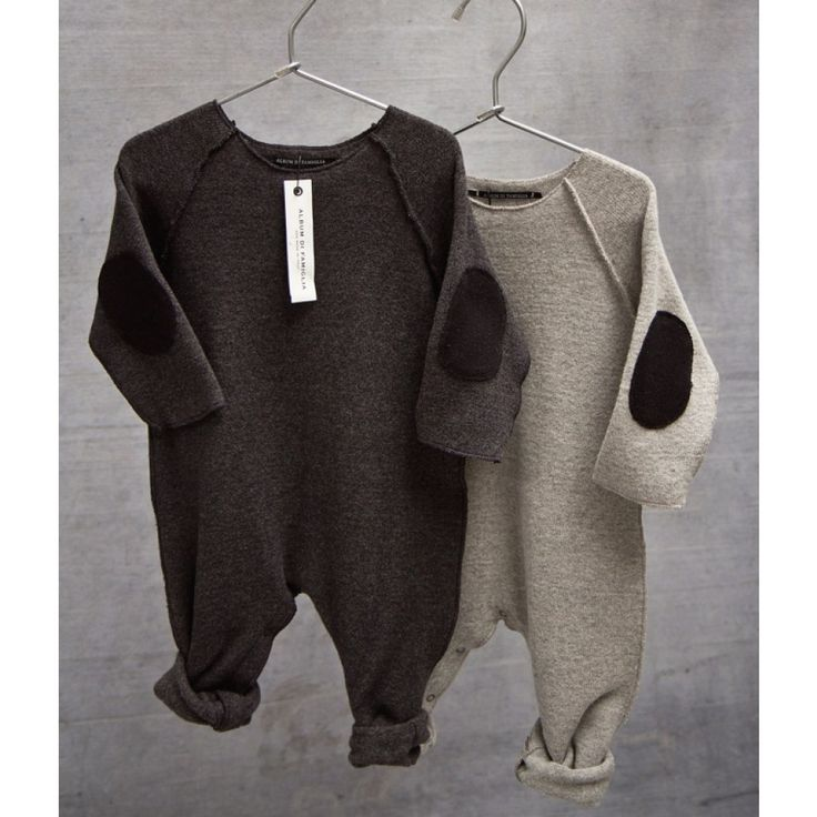 Baby One-Piece Romper with Elbow Patches by Album di Famiglia - Buddy #designer #baby #fashion