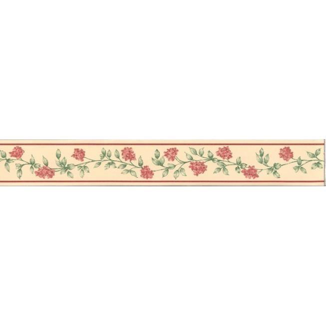 coswig tapeten bordüre selbstklebend mit blütenranke 3561-03, Wohnzimmer