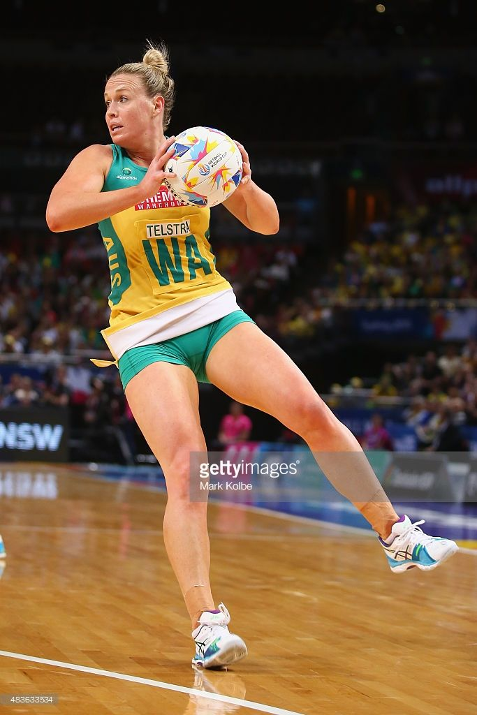 Kimberlee Green of Australia catches the ball during the 2015 Netball World Cup Qualification round match between Australia and England at Allphones Arena on August 11, 2015 in Sydney, Australia.
