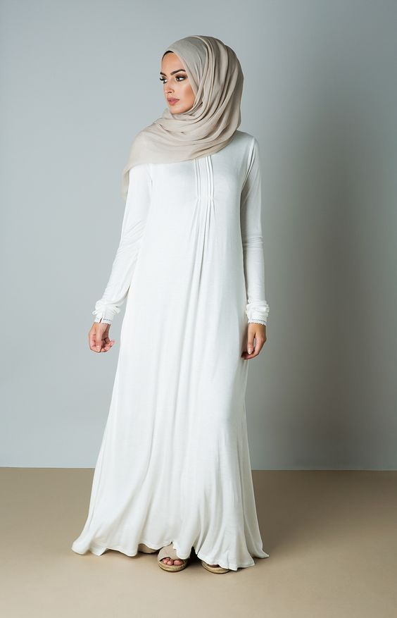 After read this post next you will known best ideas about selection of hijab color with white abaya.