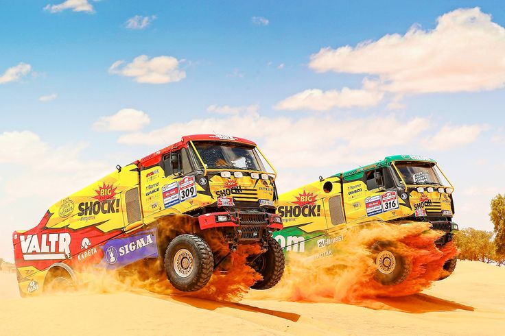 KM Racing Team - completely new designs and wraps for Rally Dakar 2014, branding of the entire fleet and team.