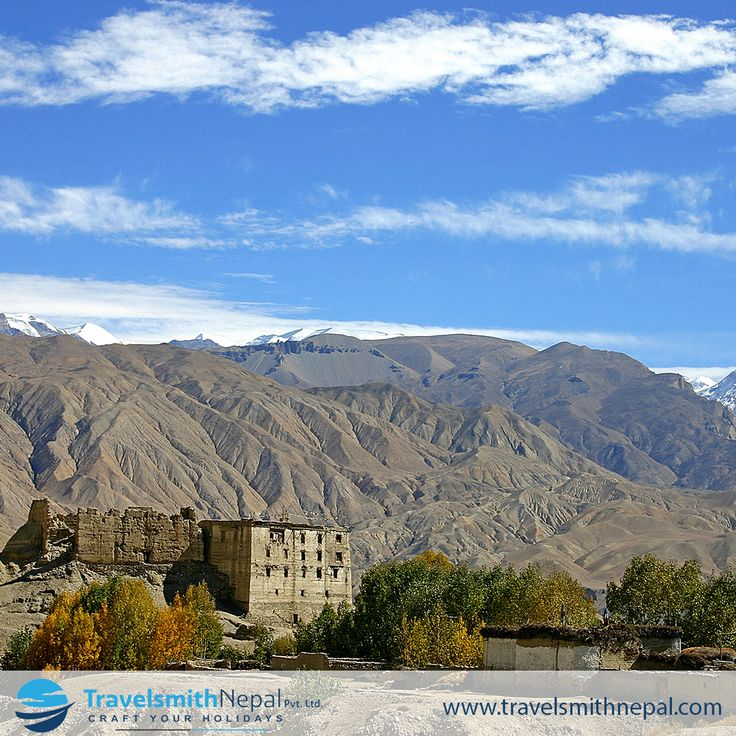 The village of Tsarang is just south of the walled town of Lo Monthang, the capital of the Kingdom of Mustang in North Western Nepal. #Tsarang #Mustang #Nepal #Kingdom #Traveler