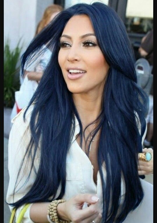 Blue black hair color                                                        …