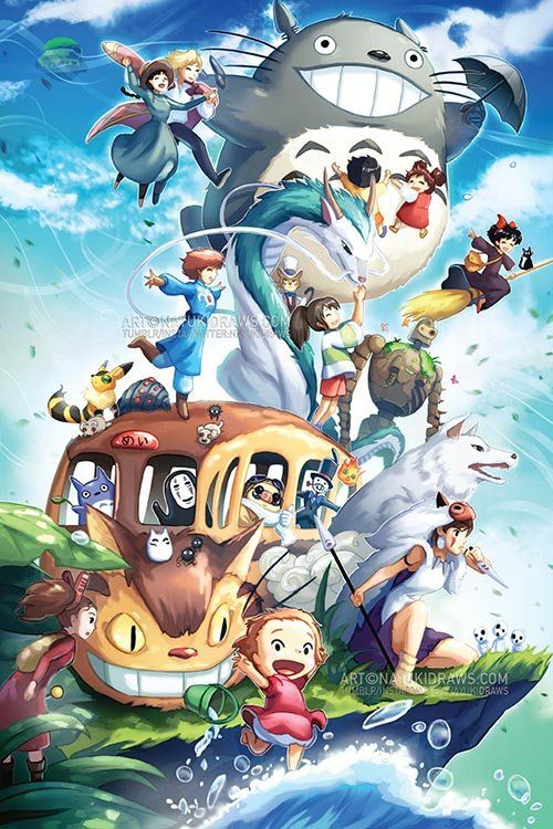 Nayukidraws Online Store Studio Ghibli Poster Print