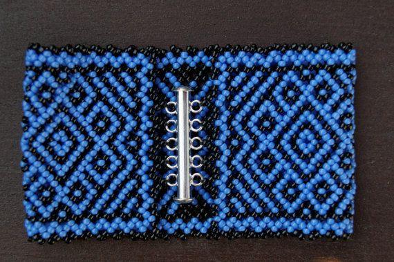 Huichol bracelet by ArtFromKryg on Etsy