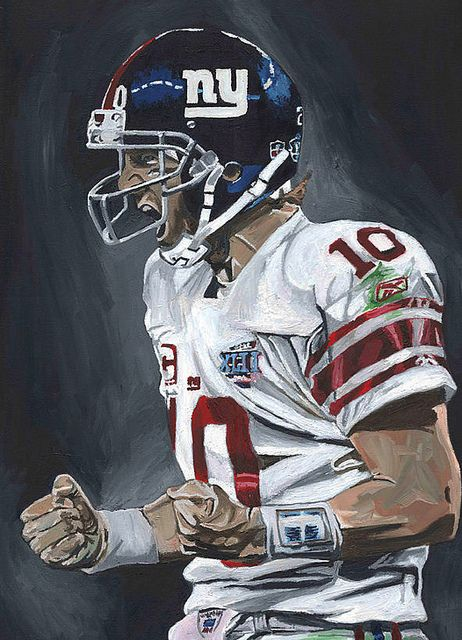 The best Quarterback in the game Eli Manning by artist David Courson