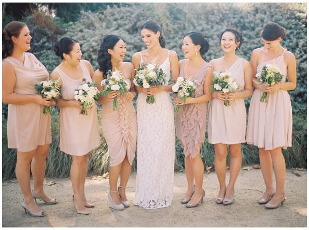 Mismatched Blush/Rose/Mauve bridesmaids dresses | Dream ...